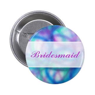 Modern Wedding. Colorful Abstract. Bridesmaid Button