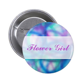 Modern Wedding. Colorful Abstract. Flower Girl Buttons