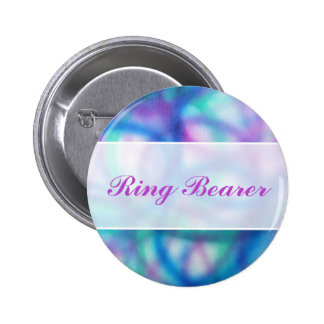 Modern Wedding. Colorful Abstract. Ring Bearer Pinback Button