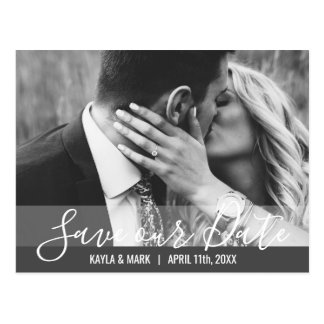 Modern Wedding Engagement SAVE OUR DATE | PHOTO Postcard