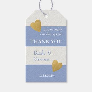 Modern Wedding Favor Lavender White Stripes Gift Tags
