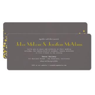 Modern Wedding Invitation Grey & Gold