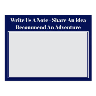 Modern Wedding Reception Advice and Wishes Postcard