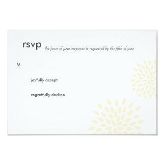 "Modern Wedding RSVP // Posh Petals // Vanilla 3.5"" X 5"" Invitation Card"