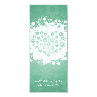 Modern Wedding Secret Garden Mint Card