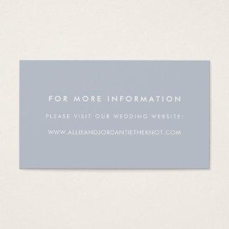 Modern Wedding Website Cards | Slate