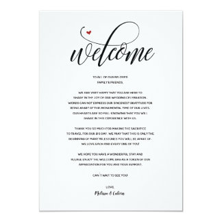 Modern Wedding Welcome and Itinerary card v1