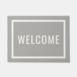 Modern Welcome Custom Color Doormat