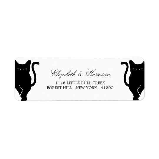 Modern Whimsical Black Cat Wedding