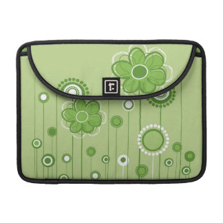 Modern Whimsical Flowers MacBook MacBook Pro Sleeve
