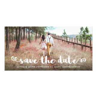 Modern Whimsy | Save the Date Customized Photo Card