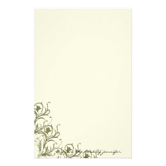 Modern Whimsy: Traditional Meets Modern Scroll Stationery