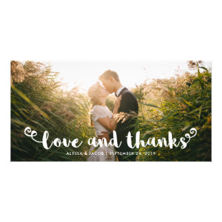 Modern Whimsy | Wedding Thank You Photo Cards