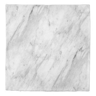 Modern White & Gray Marble Stone Duvet Cover