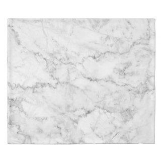 Modern White & Gray Marble Stone Print Duvet Cover