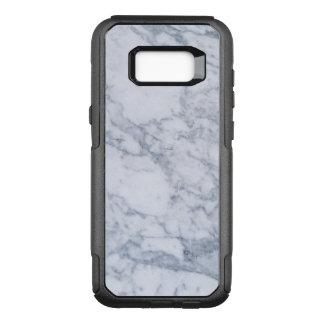 Modern White & Light-Gray Marble Stone OtterBox Commuter Samsung Galaxy S8+ Case