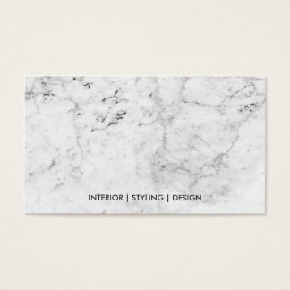 Modern white marble faux copper metal professional business card