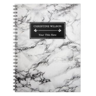 modern white marble notebook