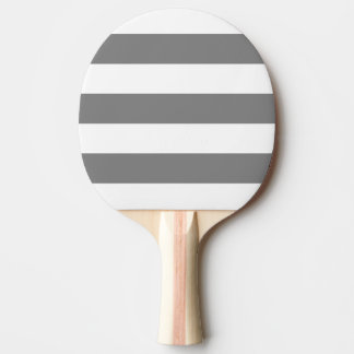 Modern White, Medium Gray Stripe Ping Pong Paddle