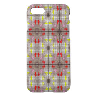 Modern white red yellow pattern iPhone 7 case