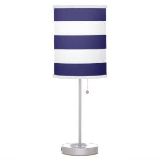 Modern Wide Striped Lamp in Navy