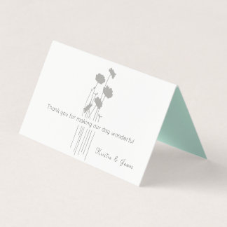 Modern Wildflowers Seating Place Card