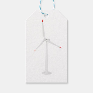 Modern wind turbine gift tags