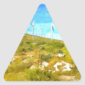 Modern Windmills Triangle Sticker