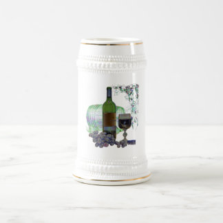 Modern Wine and Grapes Art Beer Stein