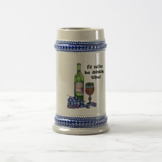 Modern Wine and Grapes Art Gifts Beer Steins