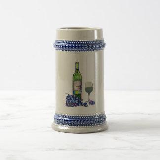 Modern Wine and grapes art gifts Coffee Mug