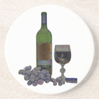 Modern Wine Art Coaster