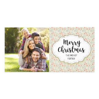 Modern Winter Snow Christmas Picture Photo Card
