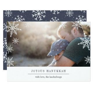 Modern Wish Hanukkah Photo Card | Editable Message