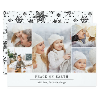 Modern Wish Holiday Photo Card w/ Editable Message