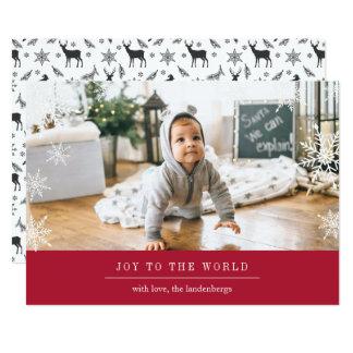 Modern Wish Holiday Photo Card w/ Editable Message