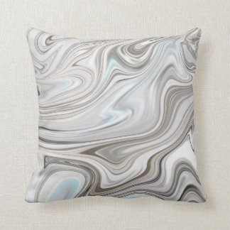 Modern Withe Marble Throw Pillow