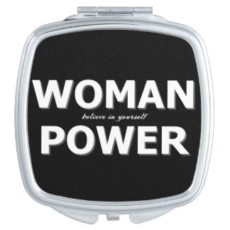 Modern Woman power typography Makeup Mirror