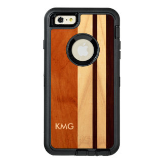 Modern Wood Mixed Color Stripes Pattern Monogram OtterBox iPhone 6/6s Plus Case