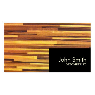 Modern Wood Stripes Optometrist Business Card