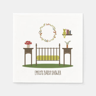 Modern Woodland Nursery Baby Shower Napkin
