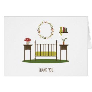 Modern Woodland Nursery Baby Shower Thank You Card