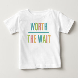 Modern Worth the Wait - Adoption, New Baby Baby T-Shirt