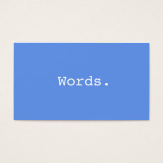 Modern writer publisher editor cornflower blue business card