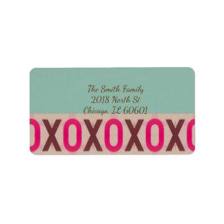 Modern XoXo Design Label