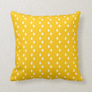 Modern Yellow Abstract Dot Pattern Pillow