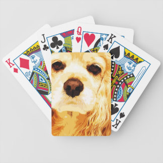 modern yellow American cocker spaniel Bicycle Playing Cards