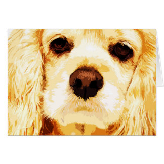 modern yellow American cocker spaniel Card