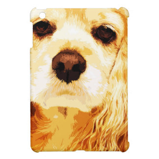 modern yellow American cocker spaniel Case For The iPad Mini