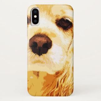 modern yellow American cocker spaniel Case-Mate iPhone Case